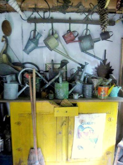 interior shot of my potting shed