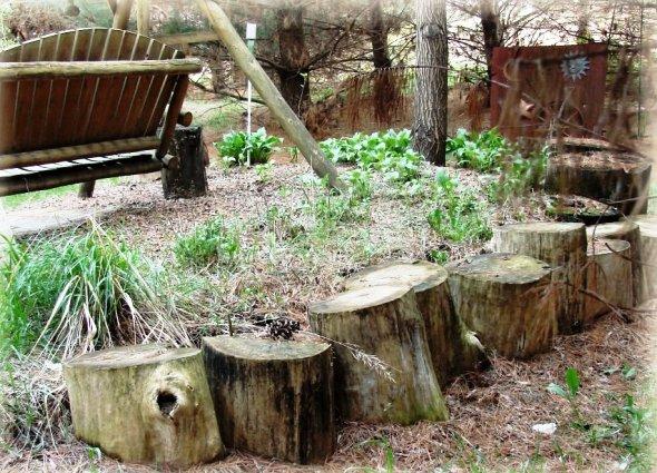 Jeanne Sammons made room for some hoppin' logs