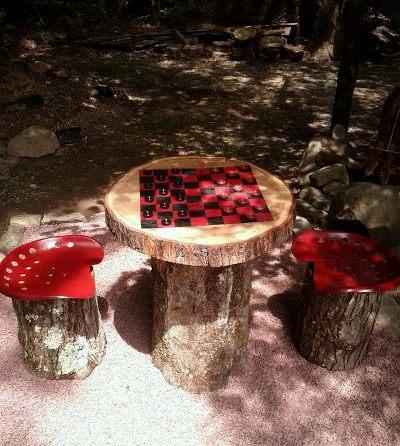 Lisa Wunderly's little Tic Tac Toe garden