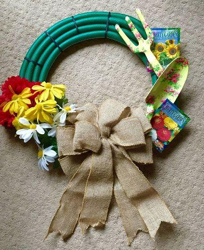 'Hose craft' wreath Ann made