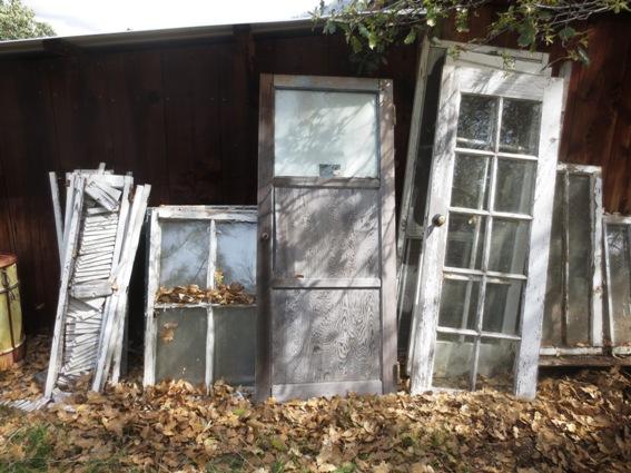 My door stash behind the shed