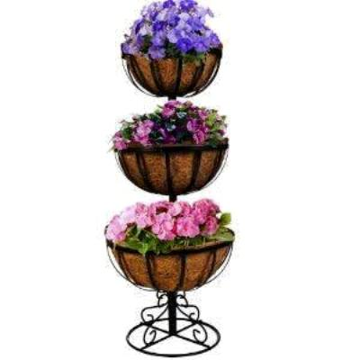 Myra's three tiered metal planter
