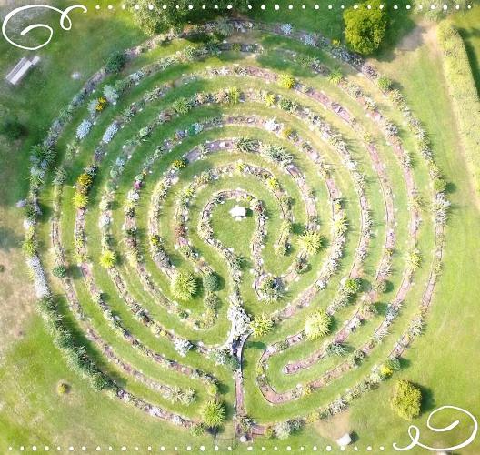 Nadine Robertson's community labyrinth garden