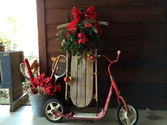Christal O'Connor's sled and wagon
