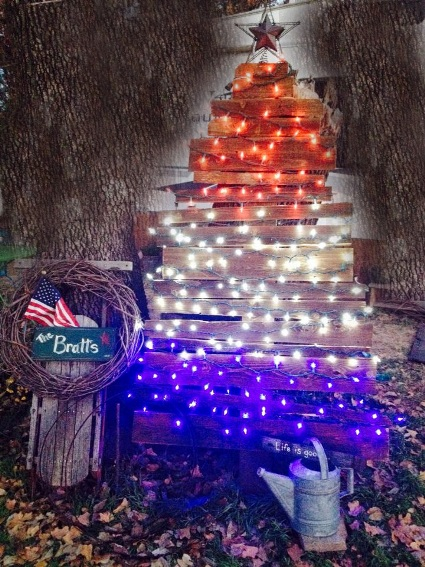 Kit Bratt Here's my Christmas garden tree