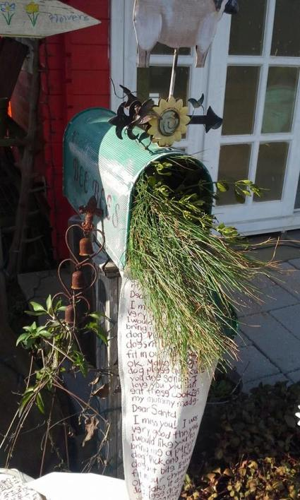 A mailbox outside Billie Hayman's shed