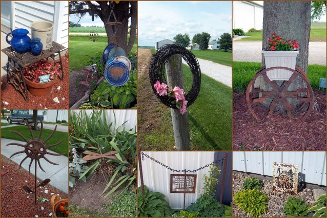Nancy K. Meyer's collection of rust and blue