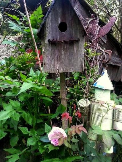 Kelly Dickinson's‎ vintage birdhouse