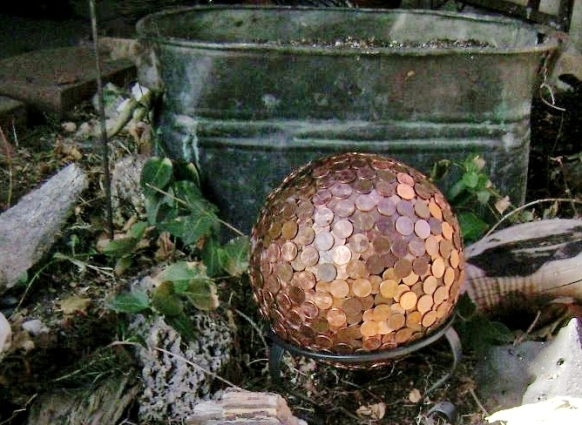 Marie Niemann painted her bowling ball copper