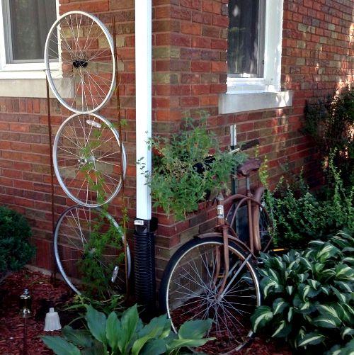 Nancy K. Meyer's daughter's bike and trellis