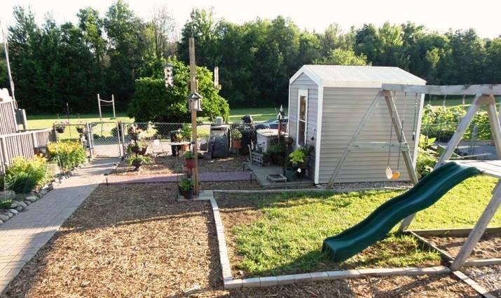 Kathie's new shed and play area