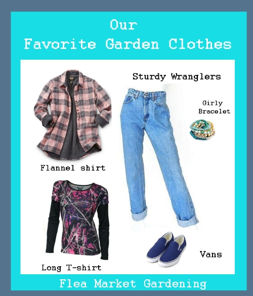 Perfect gardening clothes. Pin this!
