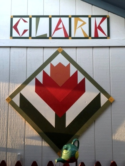 Wanda Clark My barn quilt 'Signs of Spring'