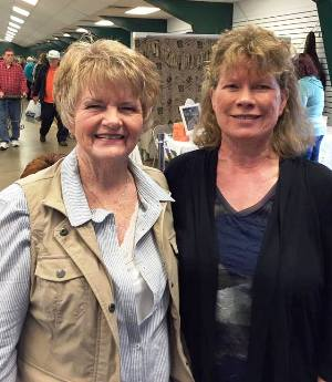 Wanda Clark and Constance McAlpin, when they met up