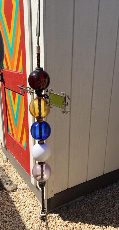 Wanda Clark's jewel colors match the door