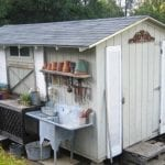 Sue Langley installed shutters and shelves on her shed