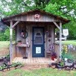 Jeannie Rhodes's garden shed