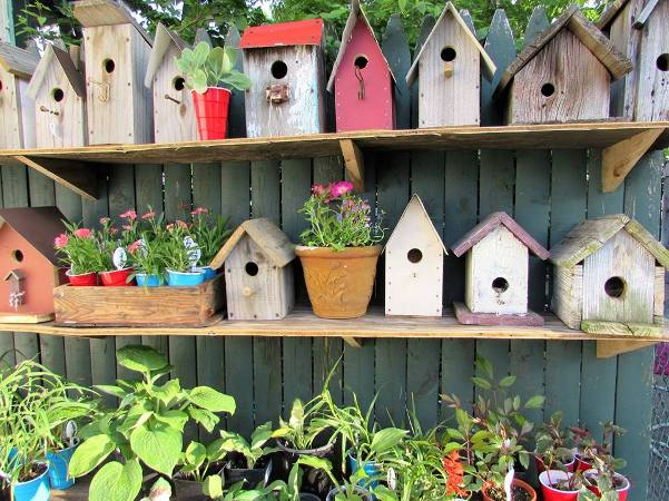 Birdhouses that my husband Pat makes