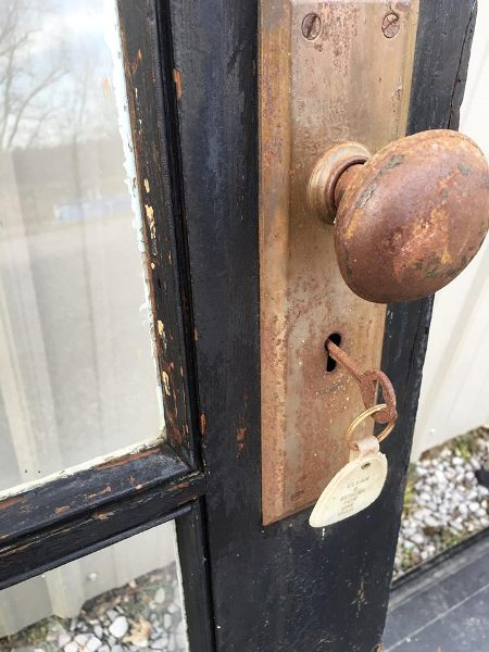 Lock and key were retained to show this fun detail!