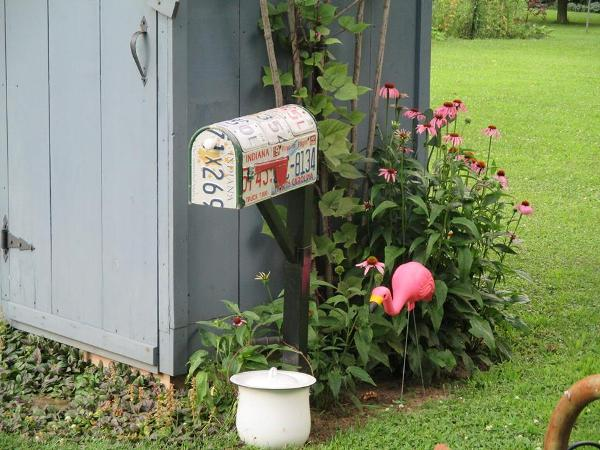 """Jeannie Rhodes says, """"Here's my """"marvelous mailbox""""."""
